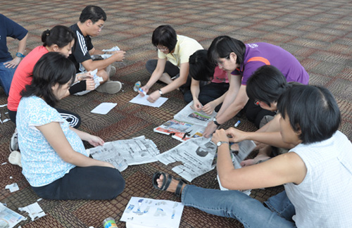 Indoor Team Building Dynamite Productions Conceptualization Of